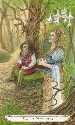 Two of Pentacles - The Fairy Tale Tarot by Lisa Hunt