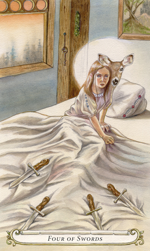 Four of Swords - The Fairy Tale Tarot by Lisa Hunt