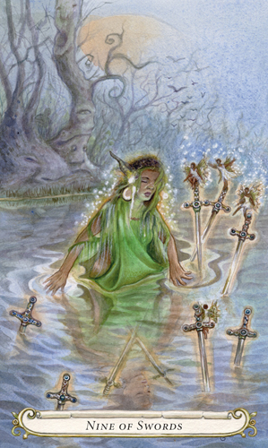 Nine of Swords - The Fairy Tale Tarot by Lisa Hunt