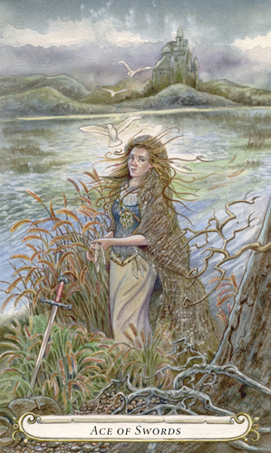 Ace of Swords - The Fairy Tale Tarot by Lisa Hunt