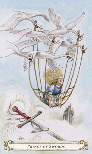 Prince of Swords - The Fairy Tale Tarot by Lisa Hunt